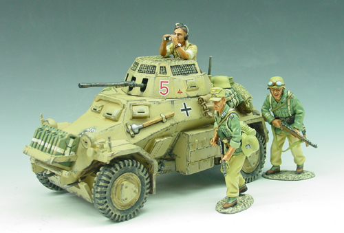 RET-AK24 SDKFZ 222 Armour Car Set- Rare